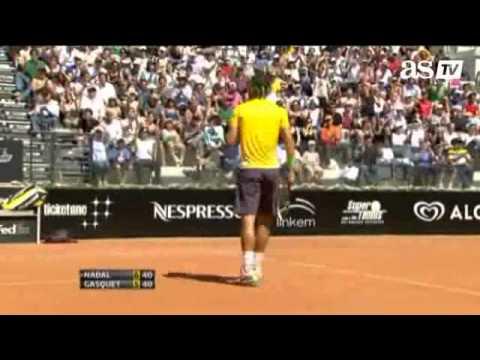 Rafael Nadal vs Richard Gasquet SF - Rome 2011