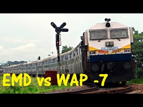 INDIAN RAILWAYS : EMD vs WAP - 7 Which is BETTER ???