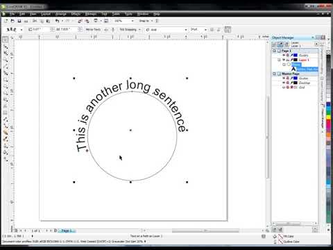 Corel Draw x5 - Fit Text To Path (Curve Around Circle)