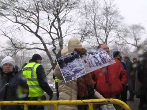 Riga 16. März 2014, Tag der Legionäre, Protest am Gatter, Freiheitzplatz 2