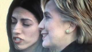 Hillary Joyous Body Language Around Huma Abedin