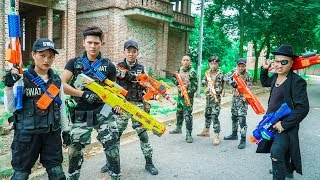 LTT Nerf War : Couple SEAL X Warriors Nerf Guns Fight Dr Lee Group Restricted Area Protection