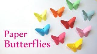 DIY crafts: Paper BUTTERFLIES (very EASY) - Innova Crafts