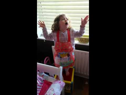 Two year old Sophia sings Whitney