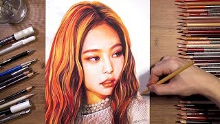 BLACKPINK : Jennie - speed drawing | drawholic
