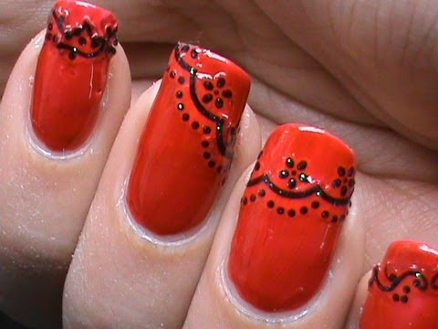 lace nail art design tutorial  how to diy lace nails