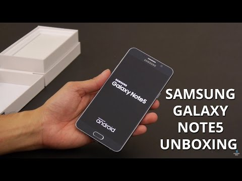 Samsung Galaxy Note5 unboxing