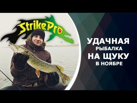 Удачная рыбалка на щуку в ноябре. Ловля на воблеры Strike Pro. Отчет с рыбалки