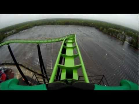 Green Lantern POV Roller Coaster Front Seat Six Flags Great Adventure New Jersey SFGadv