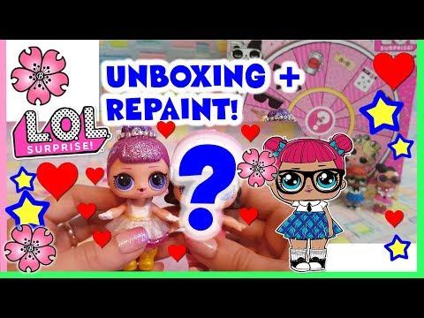 LA NOSTRA LOL REPAINT + CONFETTI POP w2 Lol surprise Unboxing e Restyle By Lara e Babou