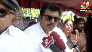 R Sarathkumar At director's union fasting for Tamil Eelam