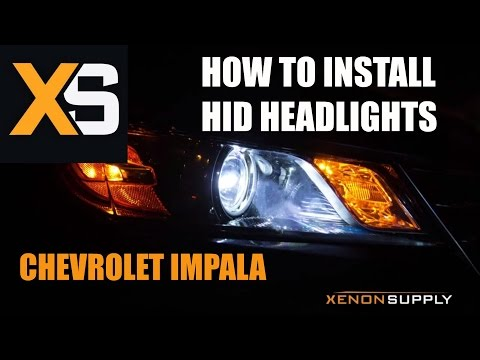 XS Chevy Impala HID - How to Install HID Xenon 2013+