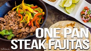 The Best Steak Fajitas - Easy Mexican Food Favorite | SAM THE COOKING GUY 4K