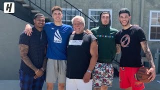 LaMelo, LiAngelo, and Lonzo Ball Getting Shots Up In Backyard!