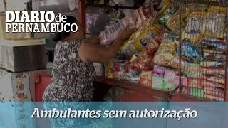 Ambulantes s�o retirados da Rua do Hospicio, no Centro do Recife