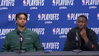 D'Angelo Russell & Caris LeVert Postgame Interview - Game 1 | Nets vs 76ers | 2019 NBA Playoffs