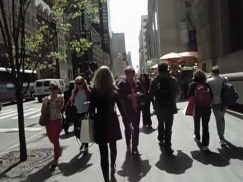 Stroll down FIFTH AVENUE, New York City....Beautiful Day!