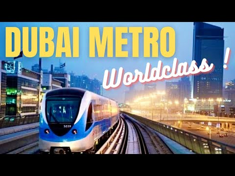 Dubai World Class Metro Train Metro Station *HD* 2013