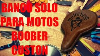Como fazer banco solo para motos bobber, custom ( motorcycle seat)