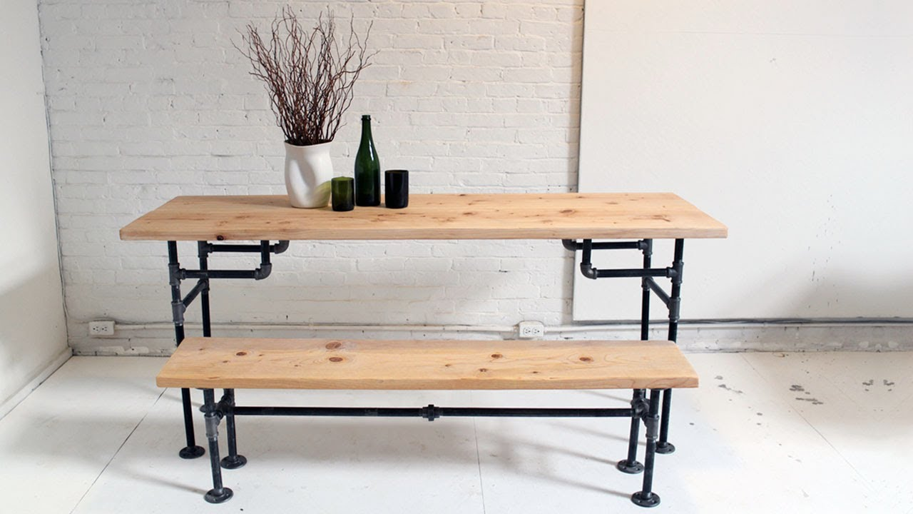 Wood And Metal Kitchen Table