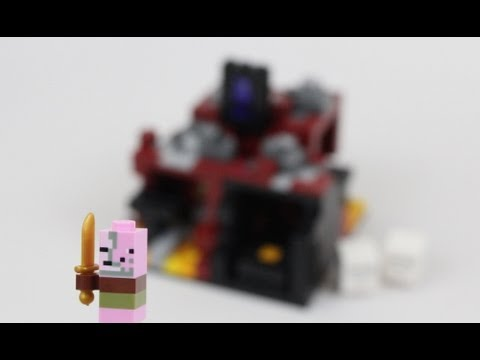 LEGO Minecraft The Nether Micro World Review 21106