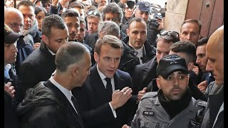France's Macron rebukes Israeli officer in altercation at Jerusalem church