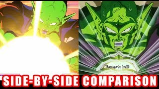 DRAGON BALL FighterZ - Piccolo Side by Side Comparison Game and Anime - XB1 PS4 PC