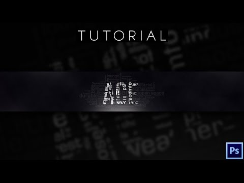 Abstract Word YouTube Banner  | Tutorial | Photoshop CC