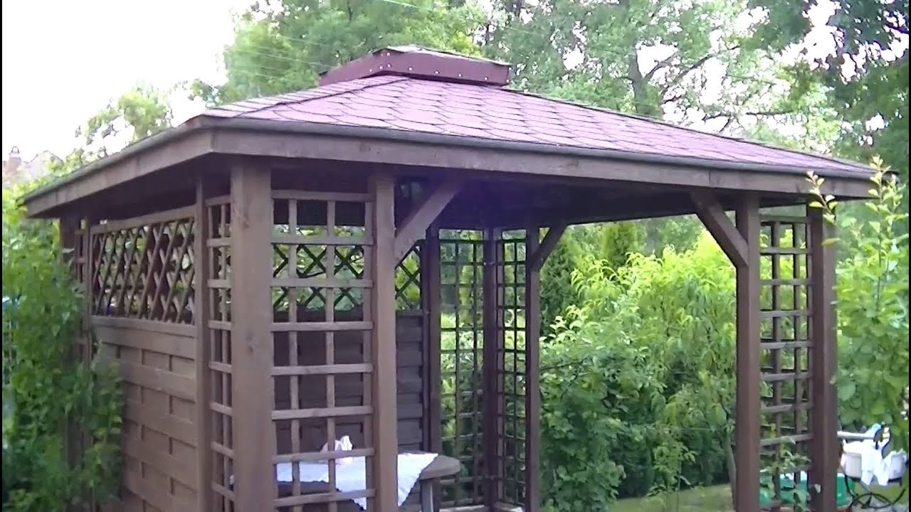 Gazebo Pergola Construction DIY Installation How to - YouTube