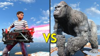 Fallout 4 - 100 KIDS vs 40 GORILLAS - Battles #23