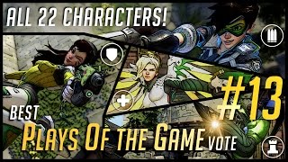 Overwatch Best PotG Vote #13   Press Q For Play of the Game at it's Best! All 22 Characters!