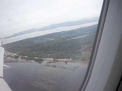 Take off from Puerto Princesa airport to Manila, Philippines