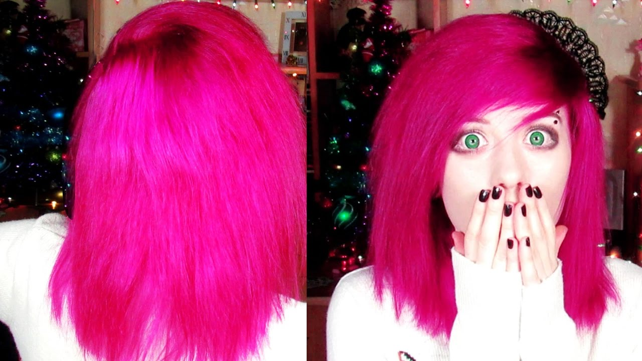 how to dye your hair pink at home - YouTube