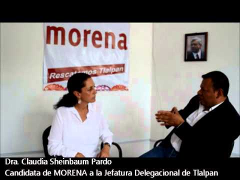 Claudia Sheinbaum, candidata a jefa delegacional en Tlalpan