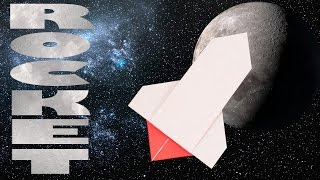 Simple origami Rocket! Easy origami for kids