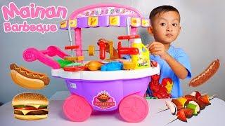 Mainan Gerobak Sosis dan Barbeque Set Ukuran Besar | Mainan Anak Masak-Masakan