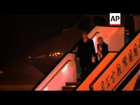 Canadian PM Harper arrives to discuss oil sales and economic ties