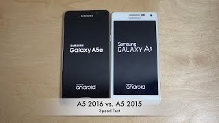 Samsung Galaxy A5 2016 vs. Samsung Galaxy A5 2015 - Which Is Faster?