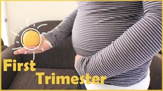MY FIRST TRIMESTER! - Pregnancy Update + Belly shot