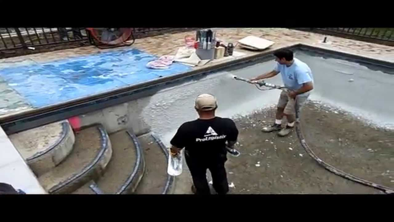Swimming Pool Plastering Process Oakbrook Il Danna Pools Inc Youtube