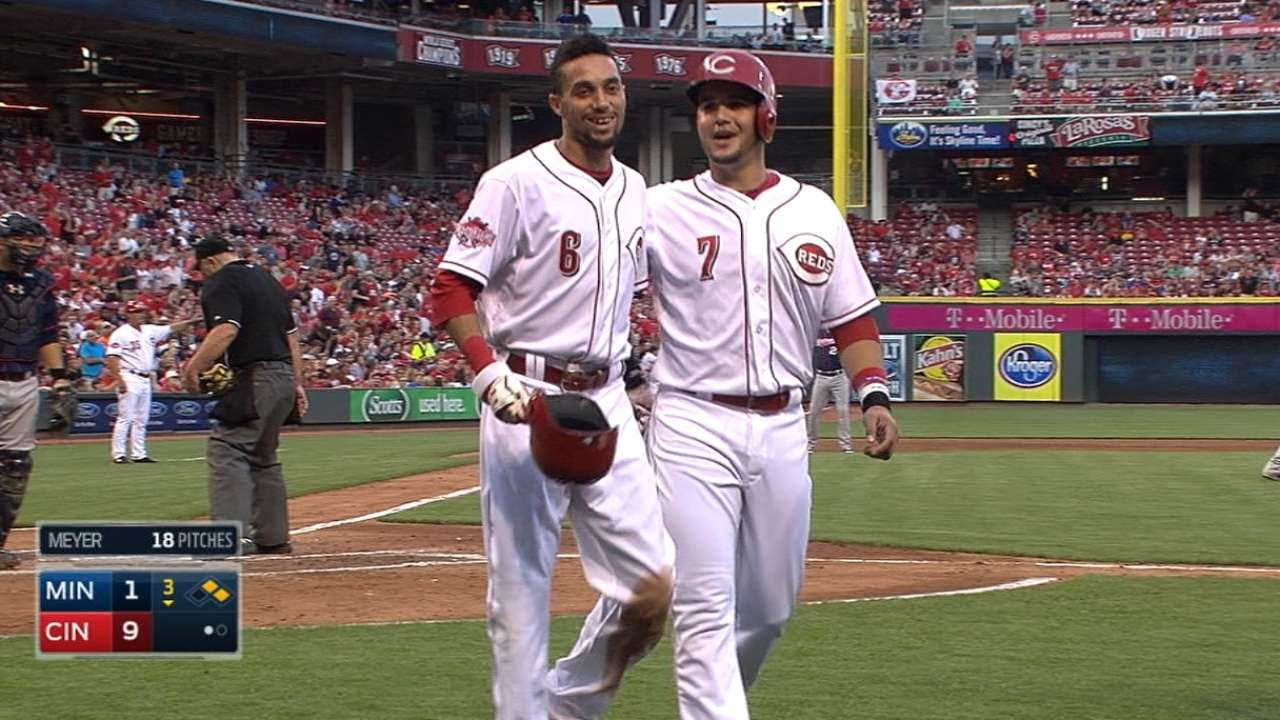 6/29/15: Reds jump out to big lead, hold off Twins