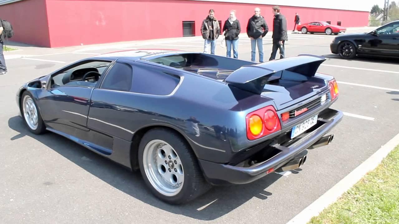 Lamborghini diablo 1992 sound exhaust youtube