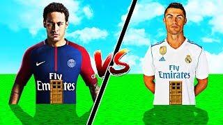 CASA NEYMAR vs CASA CRISTIANO RONALDO NO MINECRAFT !!
