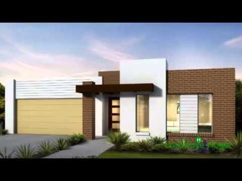 Planos de casas de un piso incluye fachadas modernas