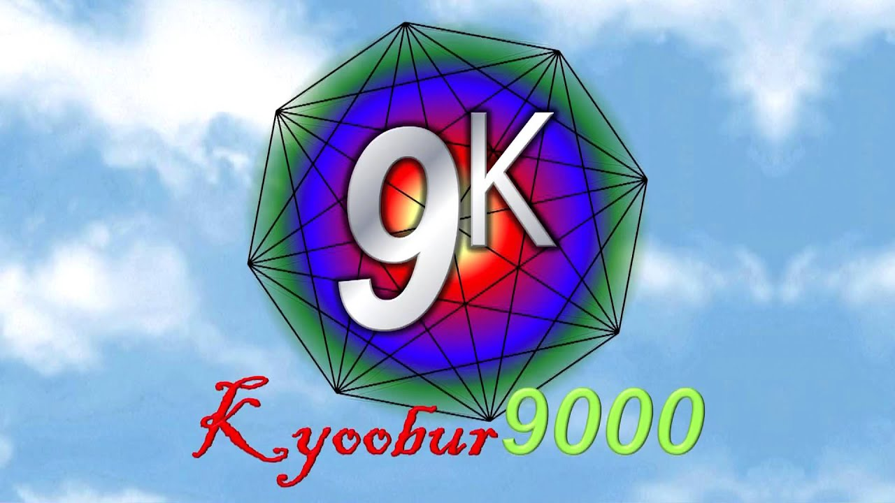 kyoobur9000 logo with  fixed  music