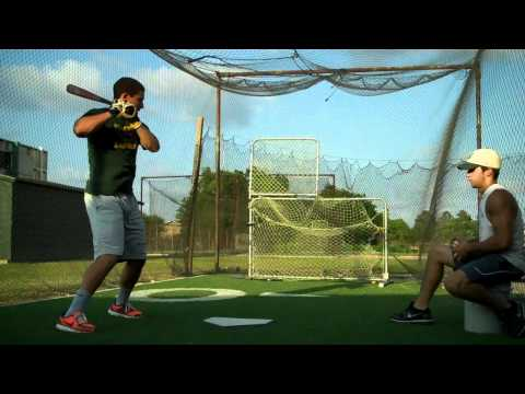 Harley Wiltz Acadiana High School Soft Toss Practice