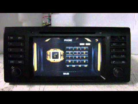 BMW SERIE 5 E39. X5 E53. 7 E38. Autoradio GPS Tactile Bluetooth