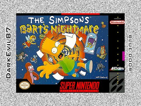 The Simpsons: Bart s Nightmare (SNES) Blue Door