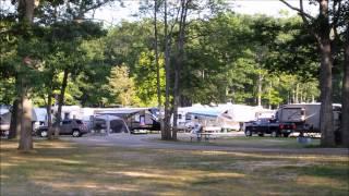 RV Trip - Michigan - Higgins Lake Campground, Area & Sunset