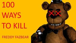 [GMOD] 100 Ways to Kill Freddy Fazbear